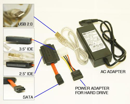 SATA IDE 35 IDE 25 HDD To USB Adapter